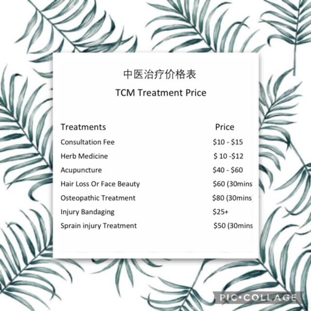 TCM Treatment Price
